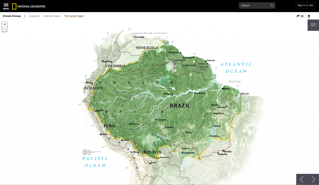 Amazonia Under Threat > Stamen Design - National Geographic Printable Maps