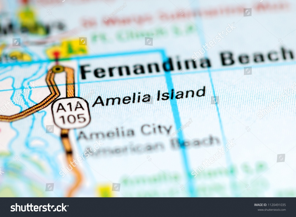 Amelia Island Florida Usa On Map Stock Photo (Edit Now) 1120491035 - Amelia Island Florida Map
