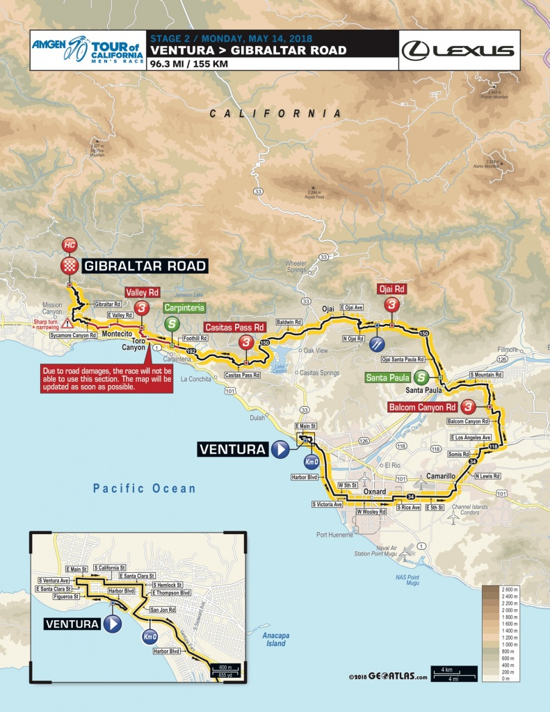 Amgen Tour Of California 2018   Stage 2   Stage/race Profiles - Tour Of California 2018 Map