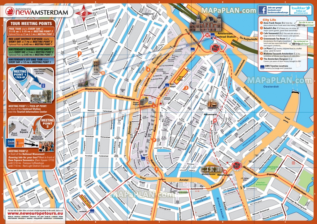 Amsterdam Maps - Top Tourist Attractions - Free, Printable City - Printable Tourist Map Of Amsterdam