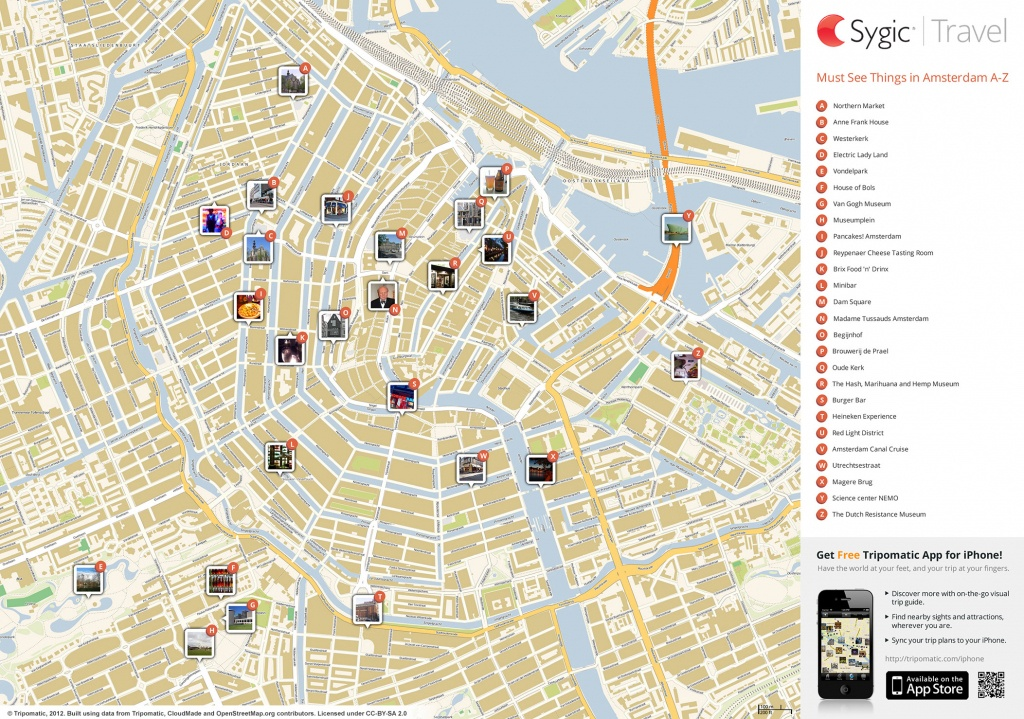 Amsterdam Printable Tourist Map | Sygic Travel - Printable Map Of Amsterdam