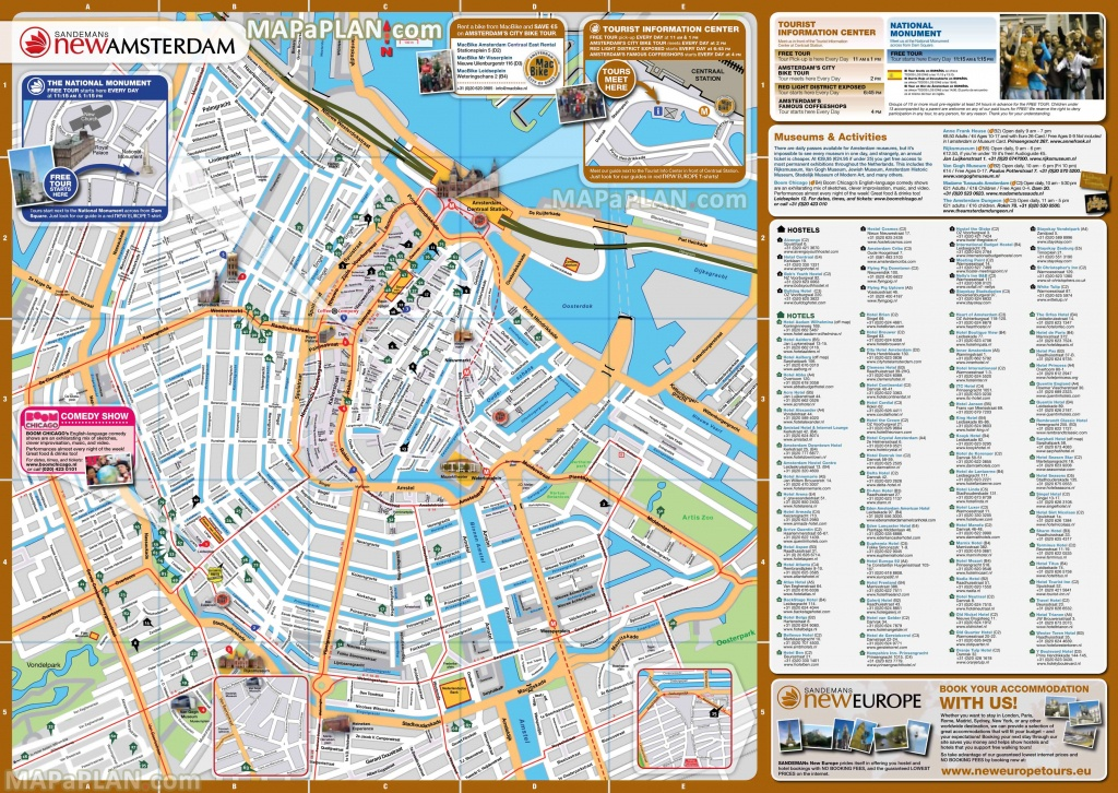 Amsterdam Street Map | Dehazelmuis - Amsterdam Street Map Printable
