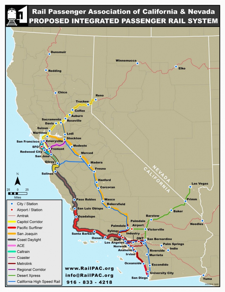 Amtrak Stations In California Map | Secretmuseum - Amtrak California Map