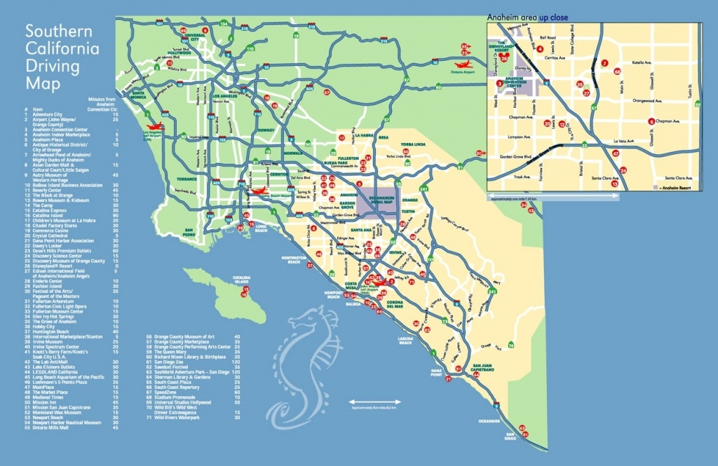 Anaheim Convention Center Within California Map Popular Anaheim Map - Map Of Anaheim California And Surrounding Areas
