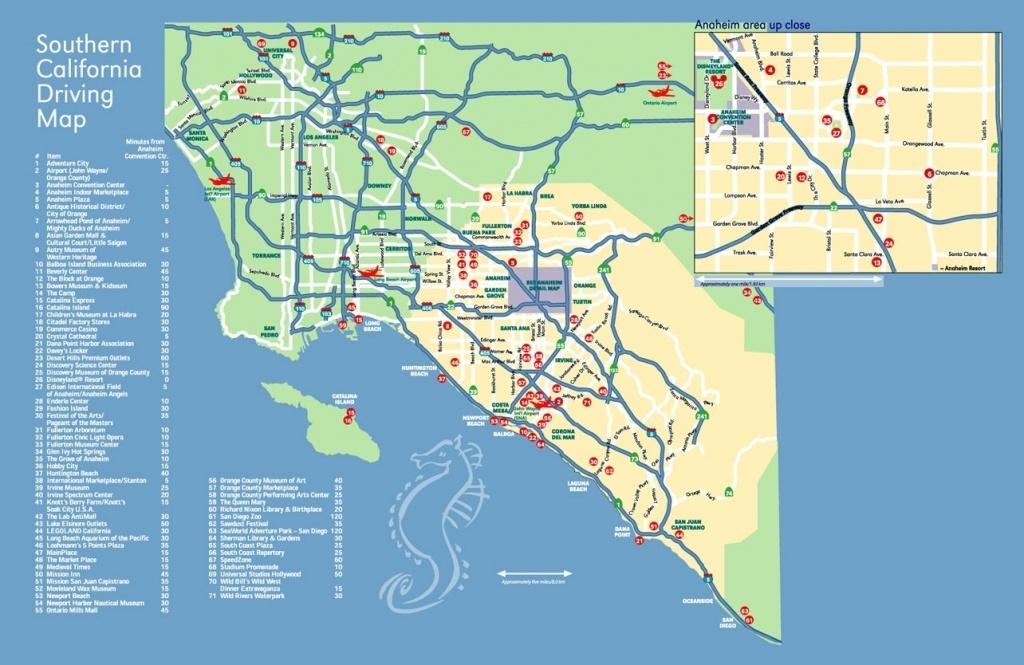 Anaheim Convention Center Within California Map Popular Anaheim Map - Map Showing Anaheim California