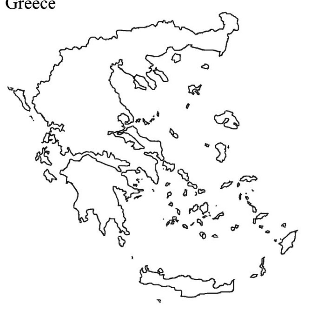 Ancient Greece Blank Map - Outline Map Of Ancient Greece Printable