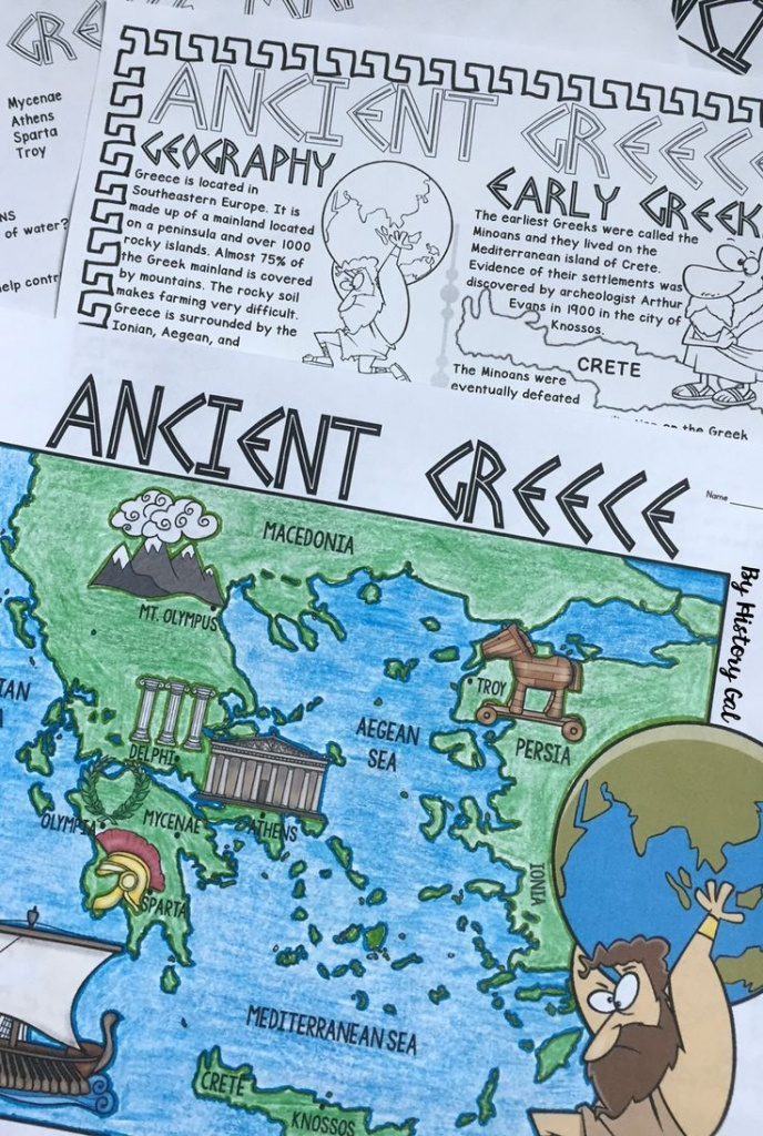 Ancient Greece Map Activity   Teaching Ancient World History   Map - Map Of Ancient Greece Printable
