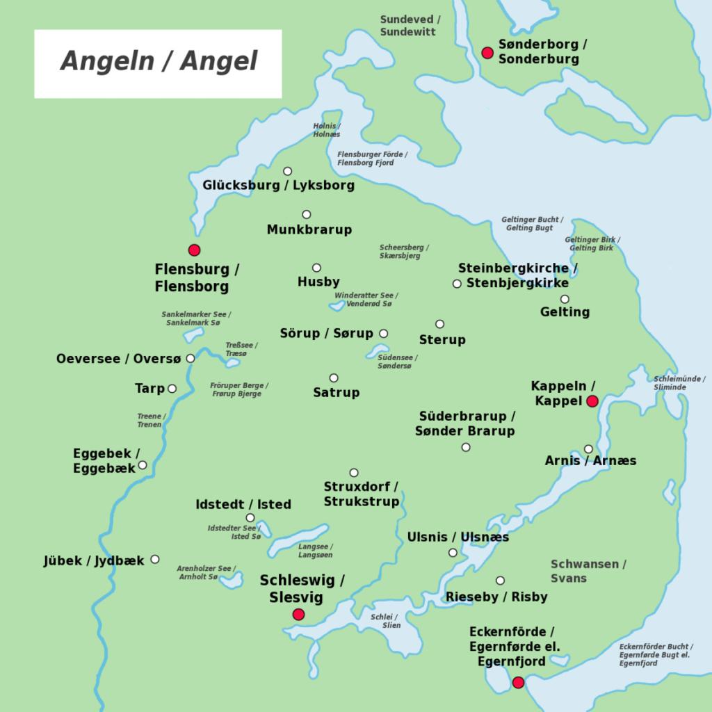 Anglia (Peninsula) - Wikipedia - Printable Map Of East Anglia