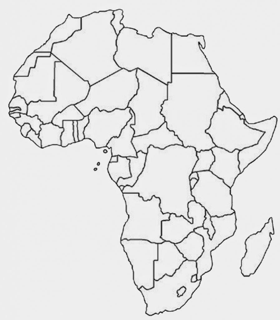 Another Similar But Sleeker Looking Free Printable Political Map Of - Free Printable Political Map Of Africa