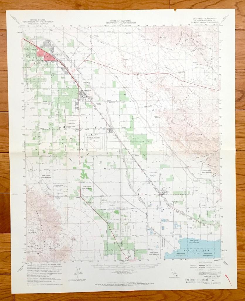 Antique Coachella California 1956 Us Geological Survey | Etsy - Thermal California Map