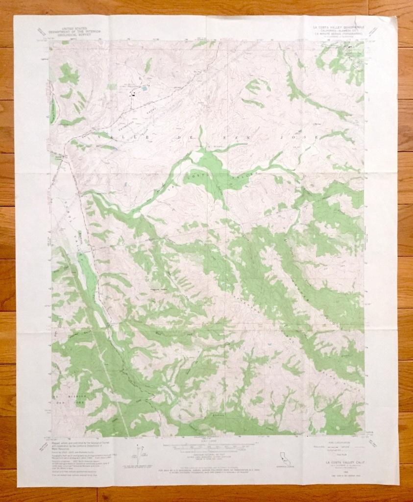 Antique La Costa Valley California 1960 Us Geological Survey | Etsy - La Costa California Map