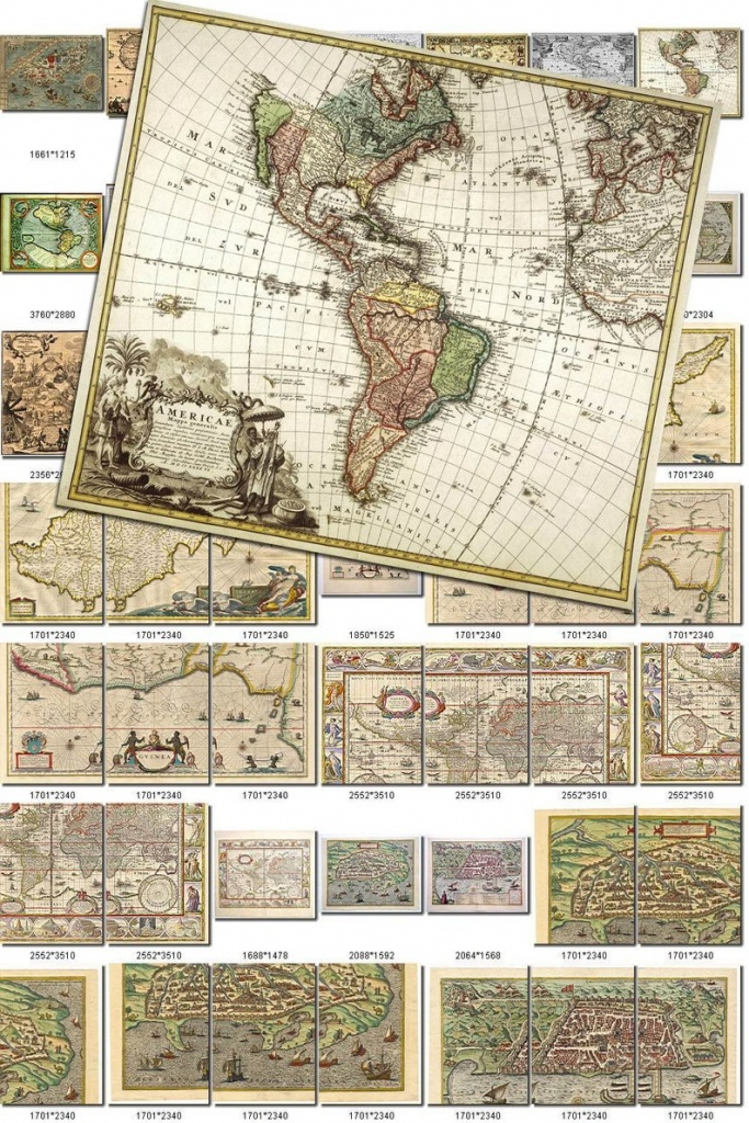 Antique Maps-1 Collection Of 200 Large Size Images Printable   Etsy - Printable Antique Maps