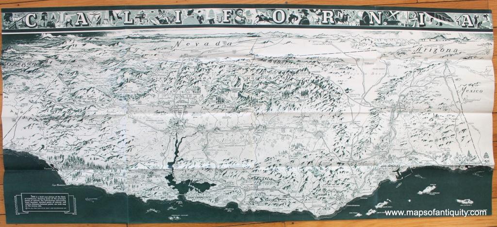 Antique Maps And Charts – Original, Vintage, Rare Historical Antique - Ono California Map