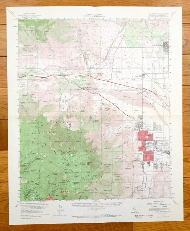 Map Of Palm Springs California And Surrounding Area
