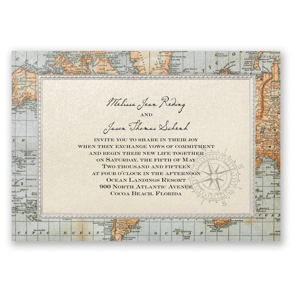 Antique World Map Invitation | Invitationsdawn - Free Printable Wedding Maps