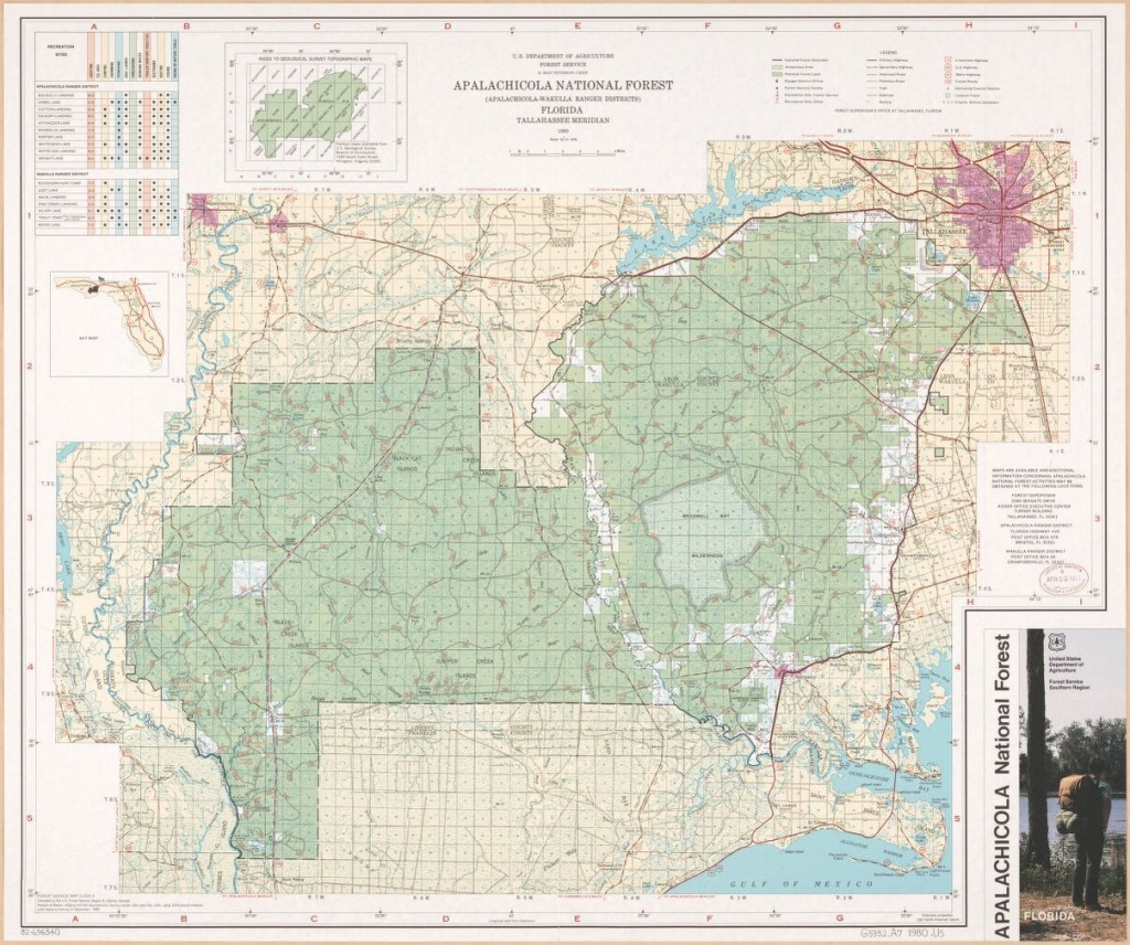 Apalachicola National Forest (Apalachicola-Wakulla Ranger Districts - National Forests In Florida Map