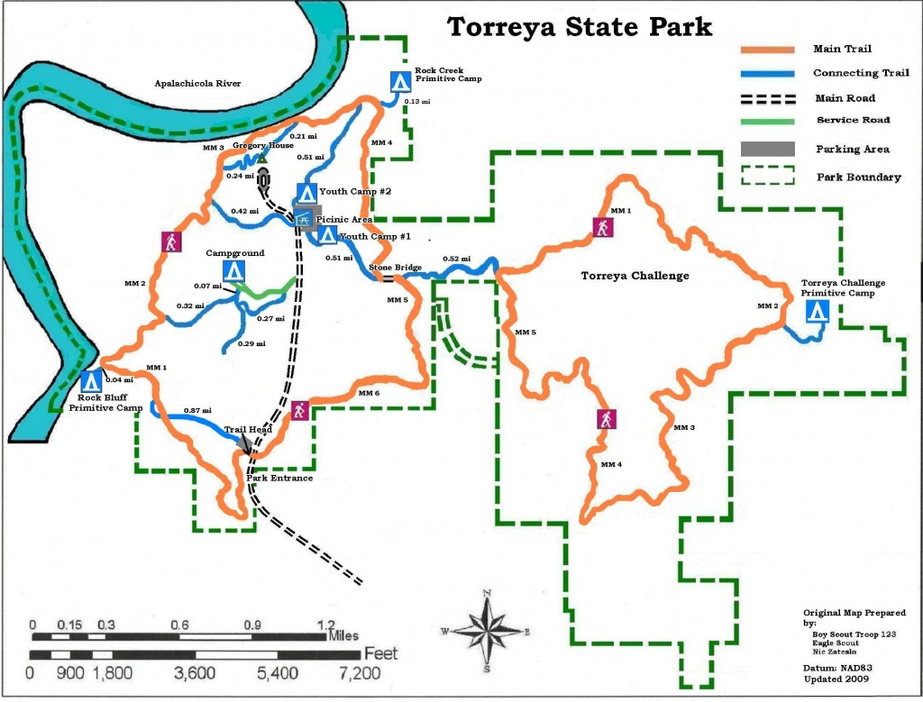 Apalachicola National Forest Campgrounds | Map Of Torreya State Park - Florida State Park Campgrounds Map