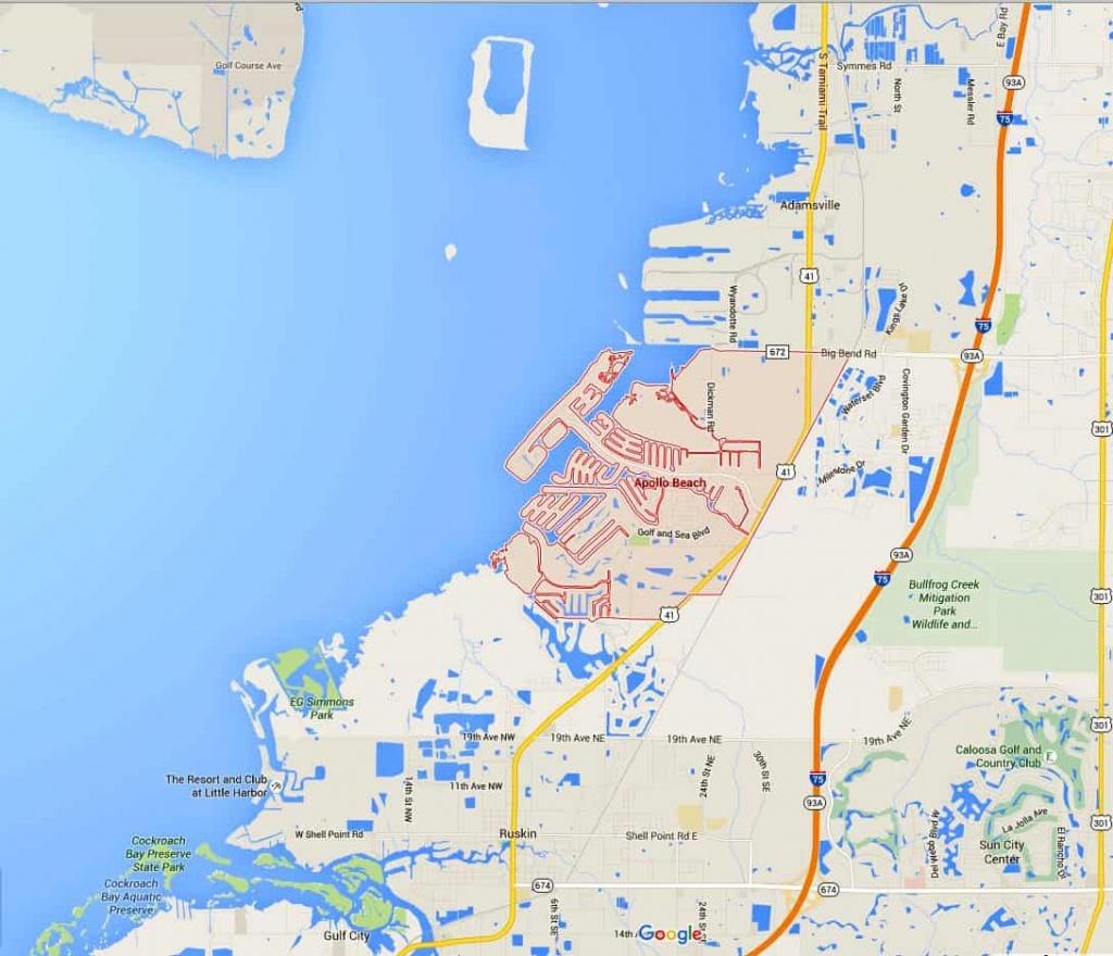 Apollo Beach Fl – Landscape - Map Of Florida Showing Apollo Beach