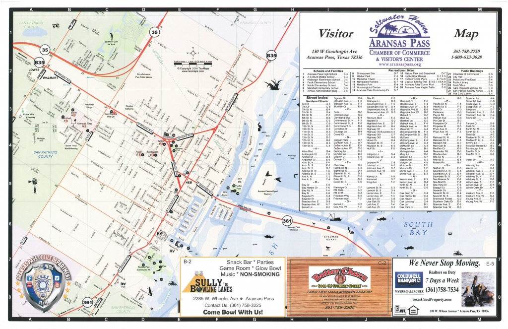 Aransas Pass Chamber Of Commerce - - Map Of Aransas Pass Texas