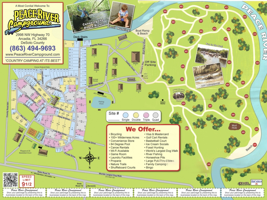 Arcadia Peace River Campground - Florida Campgrounds Map