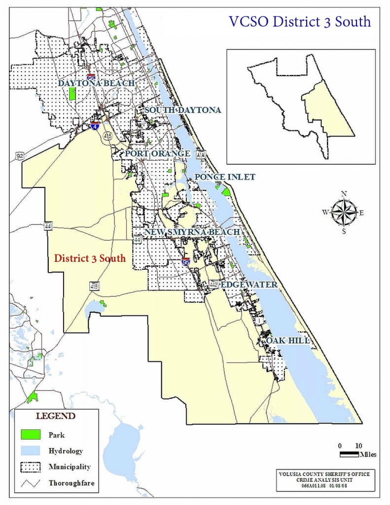 Archived Daily District 3 South Reports - Edgewater Florida Map