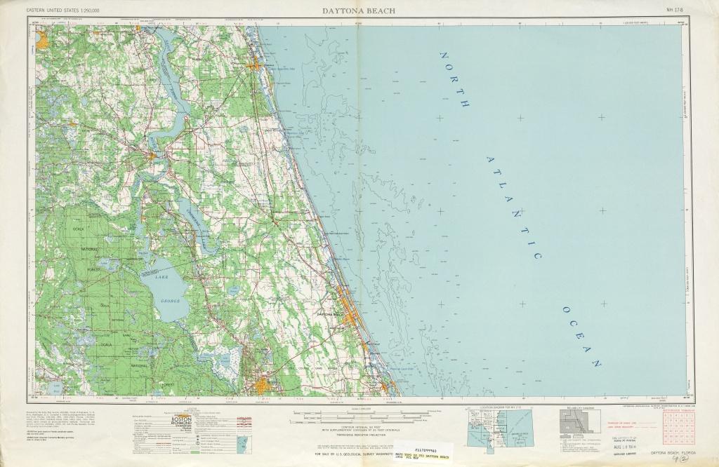 Area Around Daytona Beach In The United States - Full Size   Gifex - Map Of Daytona Beach Florida Area