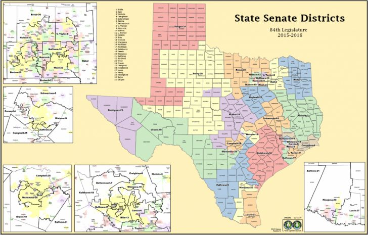 Texas Congressional Districts Map 2016