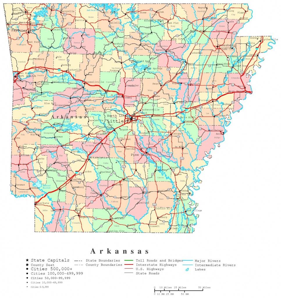 Arkansas Printable Map - Printable State Maps With Counties