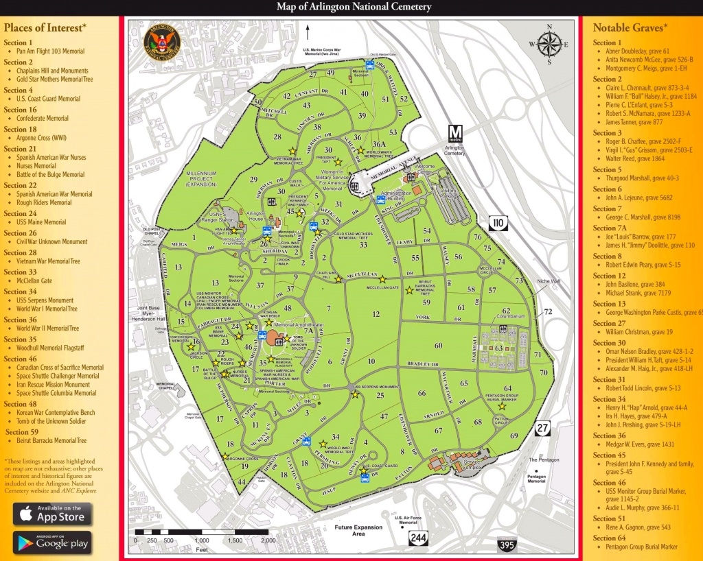 Arlington National Cemetery Map - Florida National Cemetery Map
