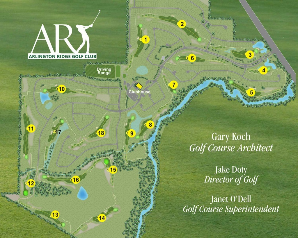 Arlington Ridge Golf Course - Arlington Ridge Retirement Community - Map Of Central Florida Golf Courses
