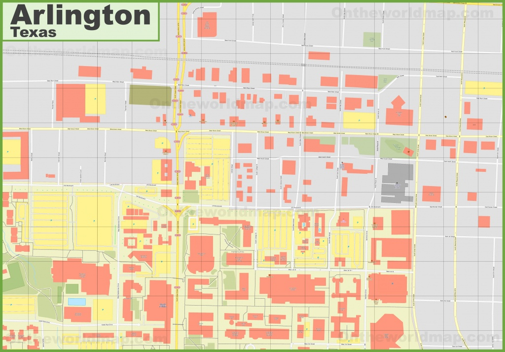 Arlington (Texas) Downtown Map - Arlington Texas Map