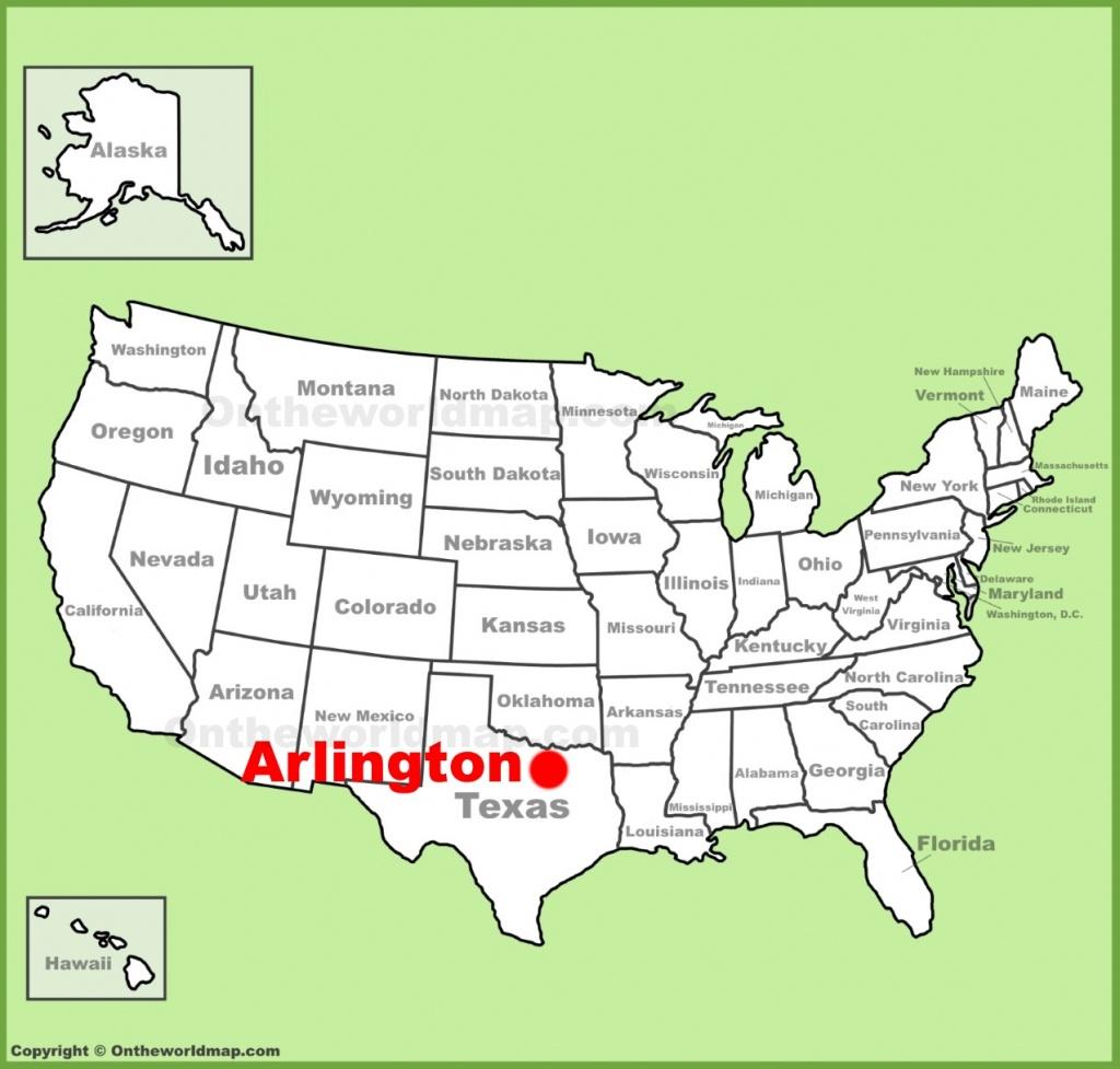 Arlington (Texas) Location On The U.s. Map - Texas Arkansas Map