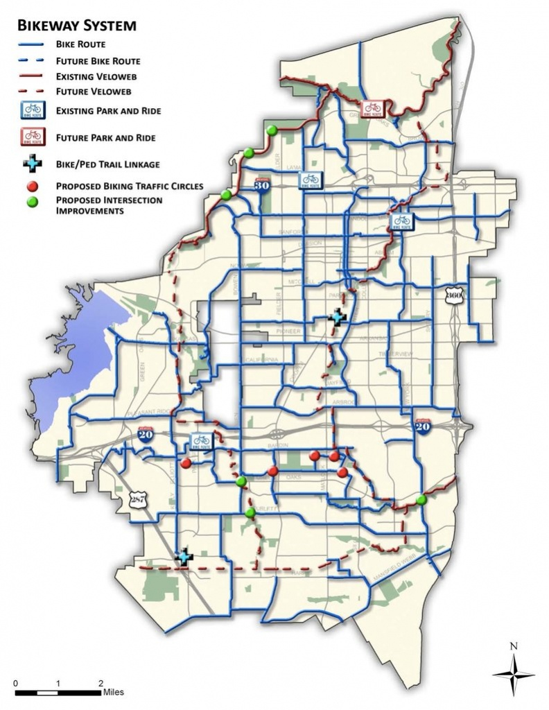 Arlington Tx Bike Map - Maplets - Arlington Texas Map