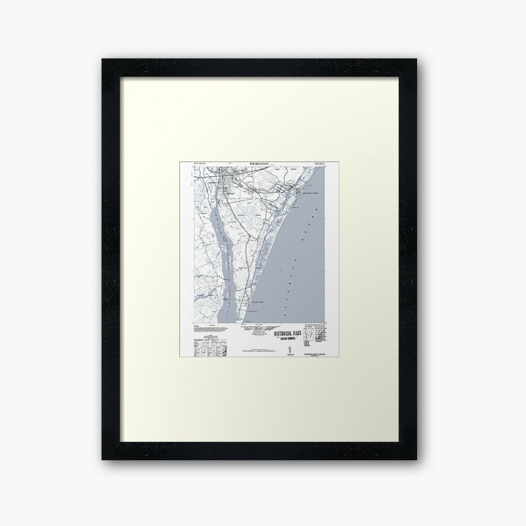 "Art Print Historical 1948 Map Of Wilmington Nc"" Framed Art Print - Printable Map Of Wilmington Nc"