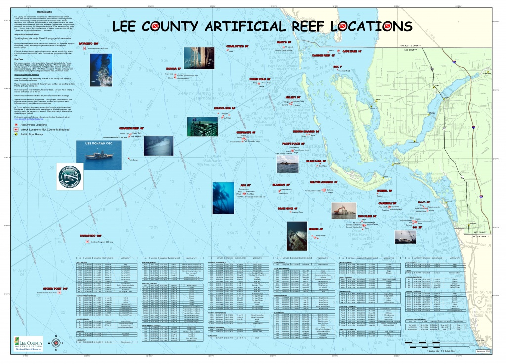 Artificial Reefs - Florida Dive Sites Map