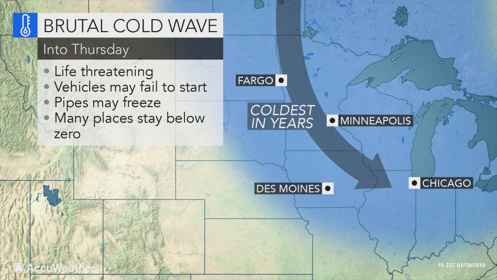 As Polar Vortex Tightens Its Grip On Midwestern Us, Accuweather - Florida Weather Map With Temperatures