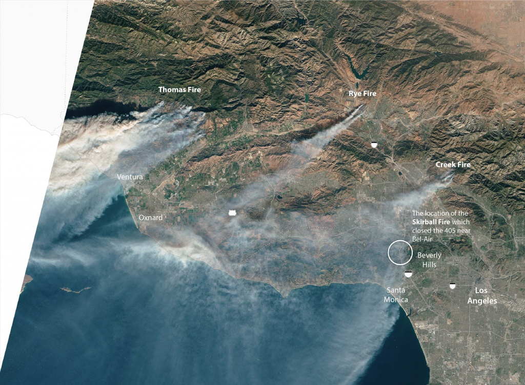 As Southern California Fires Rage On, Here's How You Can Prepare - California Wildfire Satellite Map