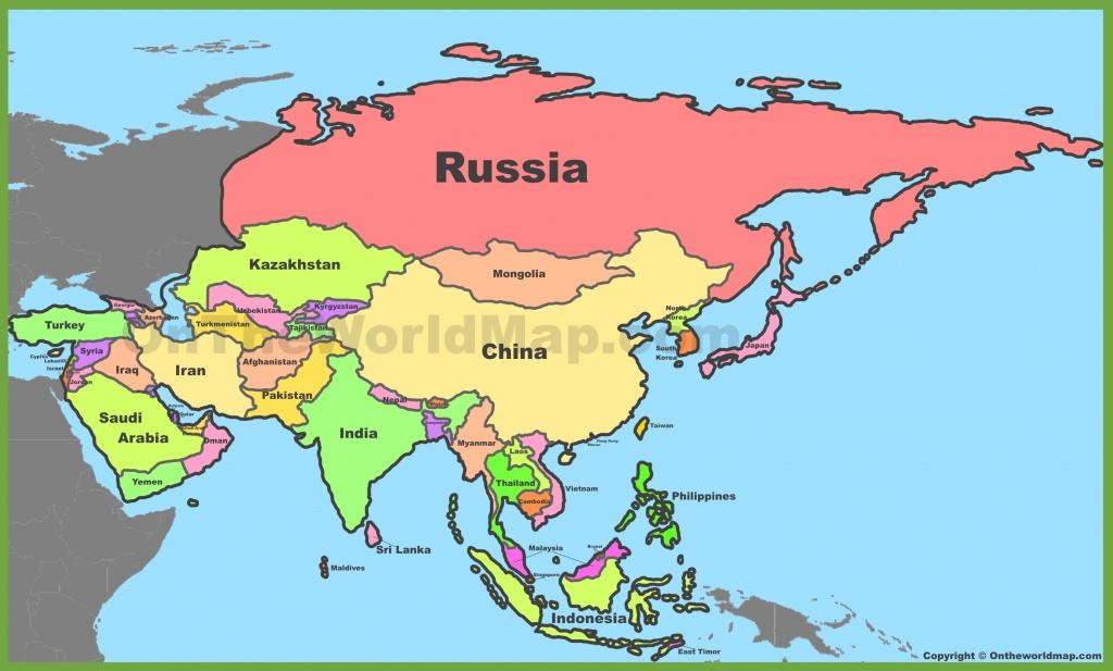 Asia Political Map - Asia Political Map Printable