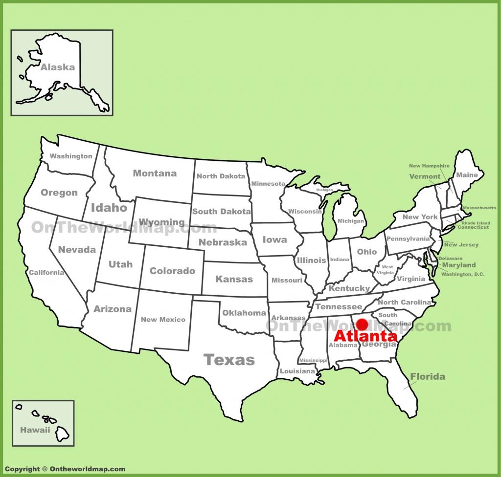 Atlanta Location On The U.s. Map - Atlanta Texas Map