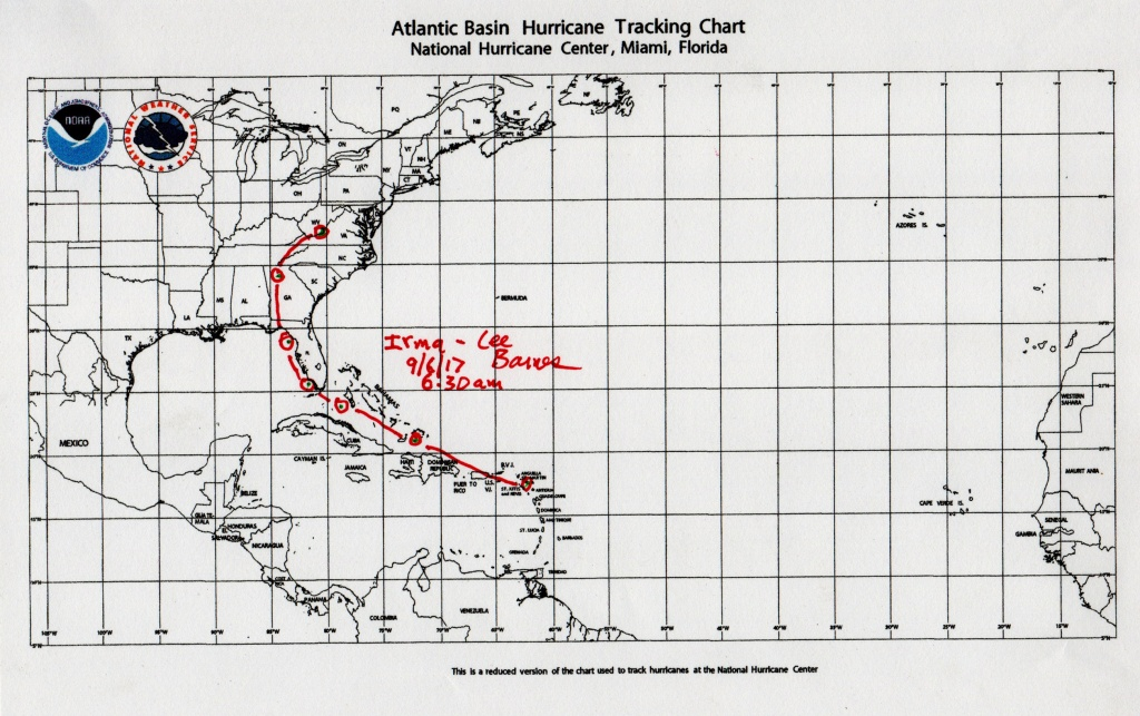 Atlantic Basin Hurricane Tracking Map - Tularosa Basin 2017 - Printable Hurricane Tracking Map 2016