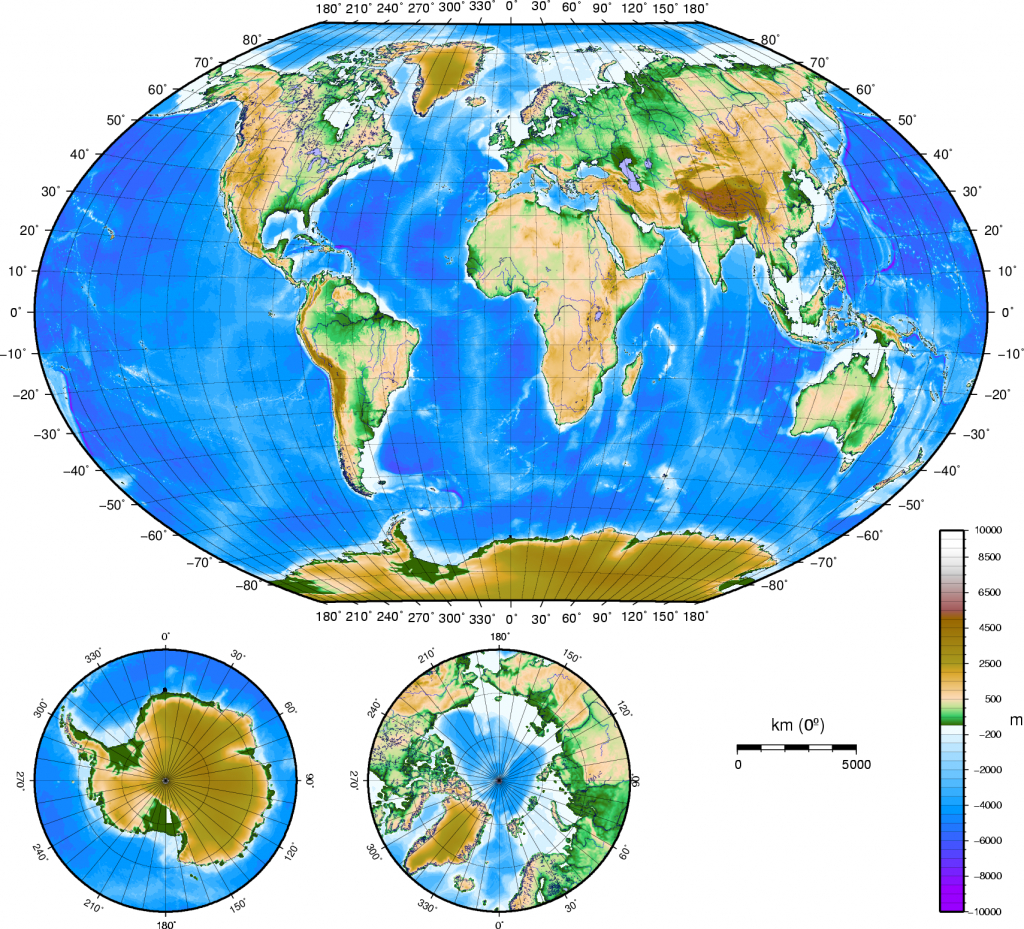 Atlas Of The World/physical And Topographical - Wikimedia Commons - Topographic World Map Printable