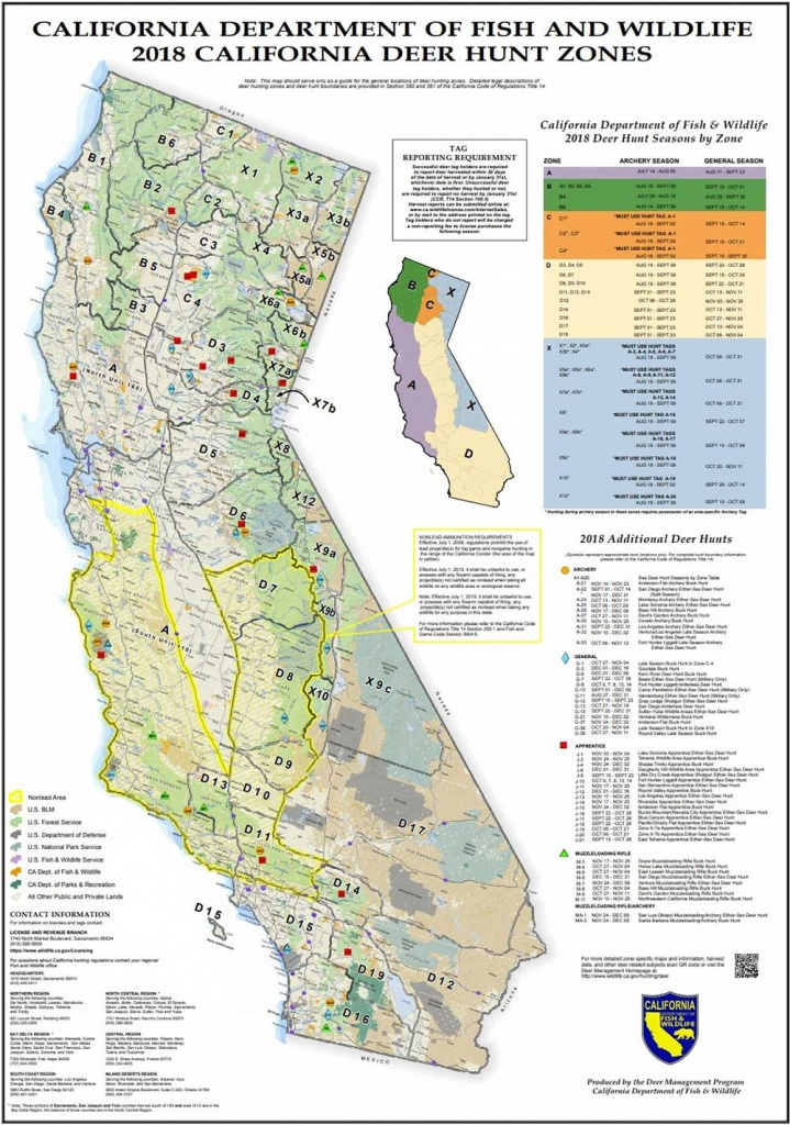 Attn California Hunters: Phase 2 Of Non-Lead Ammunition Requirements - Map Of Hunting Zones In California