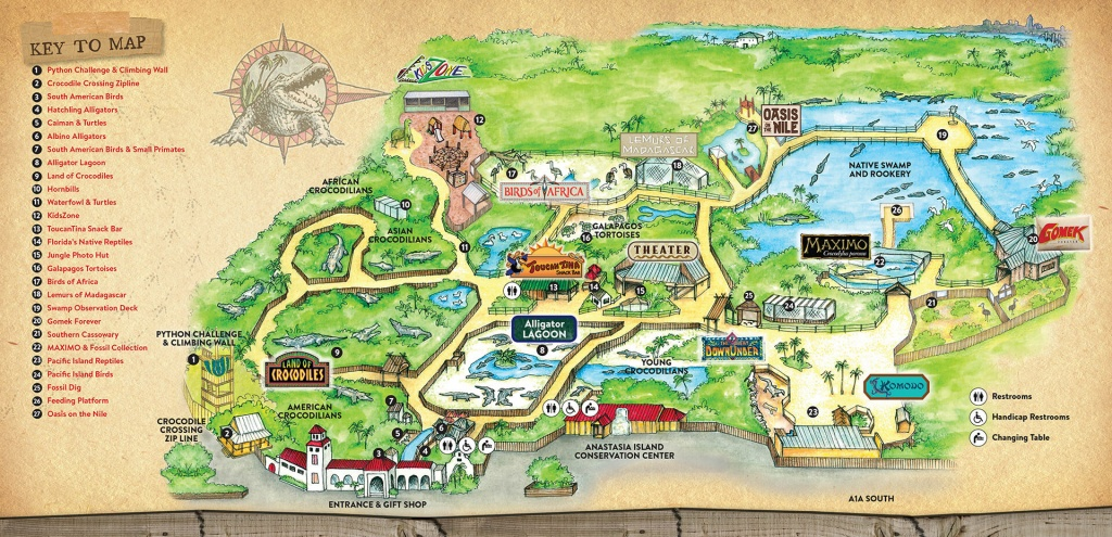 Attractions & Exhibits – St. Augustine Alligator Farm Zoological Park - St Augustine Florida Map Of Attractions