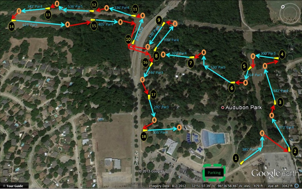 Audubon Park   Professional Disc Golf Association - Texas Golf Courses Map