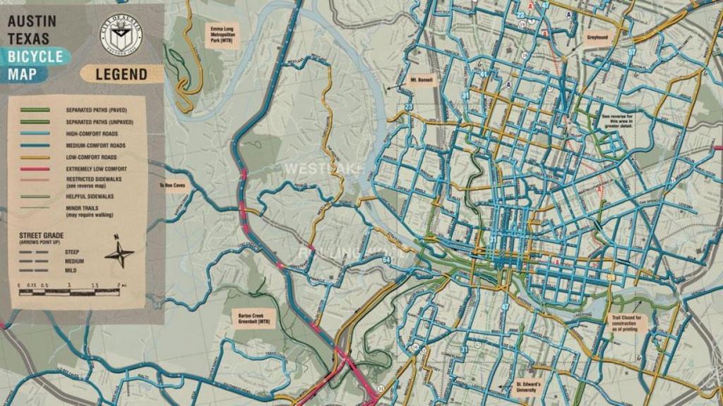 Austin Bike Map - Bike Map Austin (Texas - Usa) - Austin Texas Bicycle Map