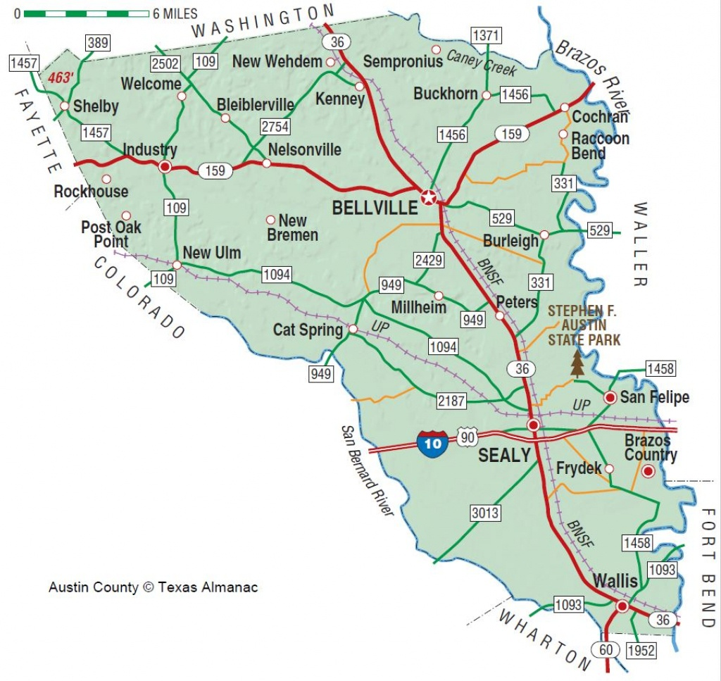 Austin County   The Handbook Of Texas Online  Texas State Historical - Sealy Texas Map