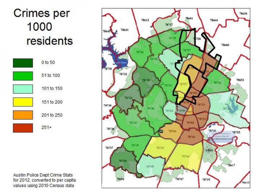 Austin Crime Map - Crime Map Austin (Texas - Usa) - Texas Crime Map