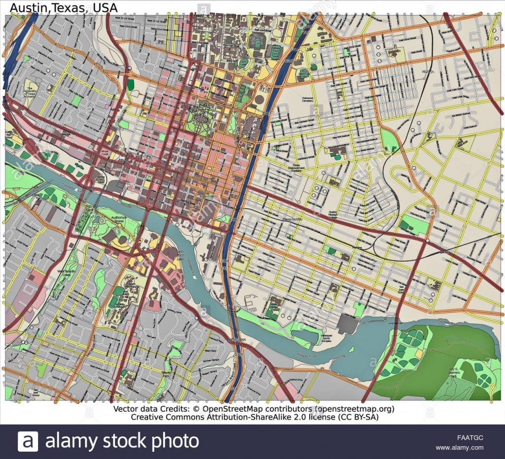 Austin Texas City Map Stock Photo: 92437196 - Alamy - Austin Texas City Map
