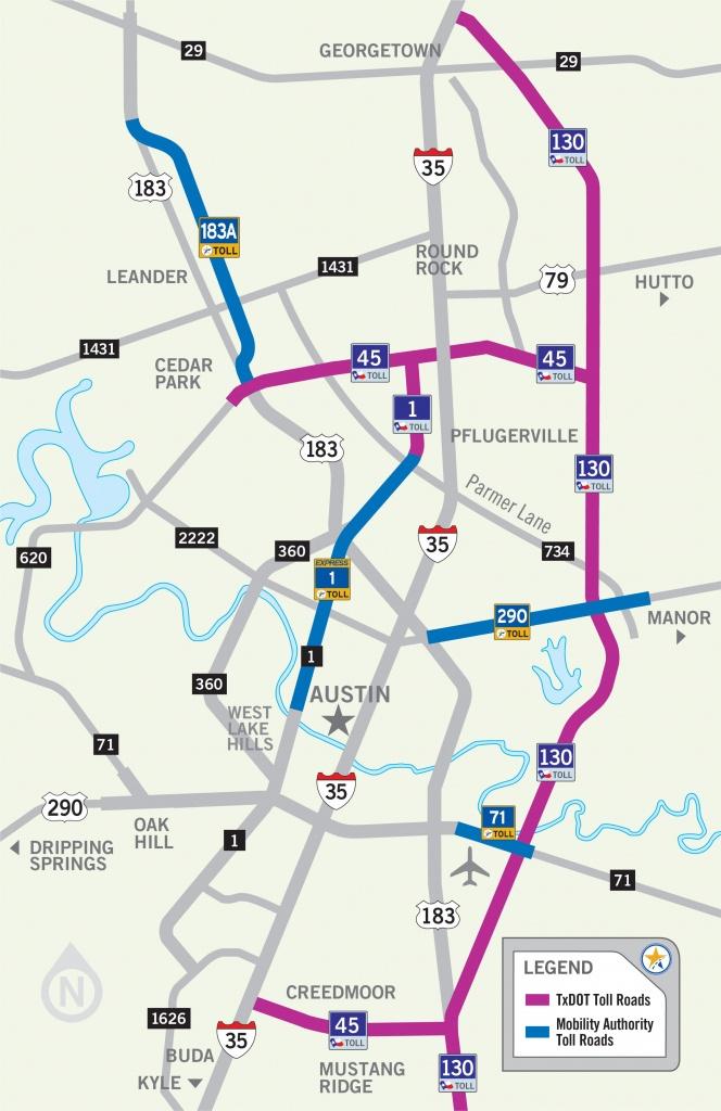 Austin Toll Road Map - Map Of Austin Toll Road (Texas - Usa) - Austin Texas Road Map