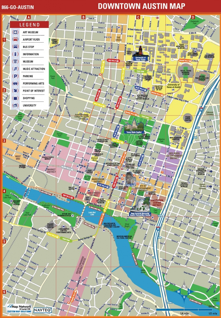 Austin Tourist Attractions Map - Texas Sightseeing Map